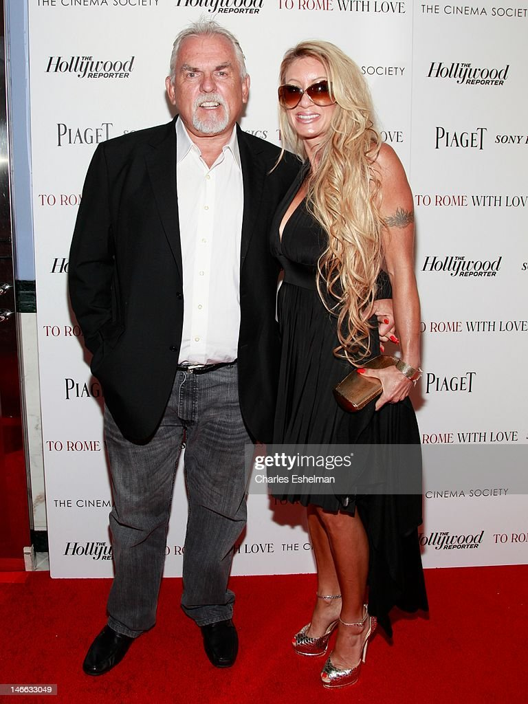 Actor John Ratzenberger and Julie Rubano attend The Cinema Society with the Hollywood Reporter & Piaget and Disaronno screening of 'To Rome With Love' at The Paris Theatre on June 20, 2012 in New York City.