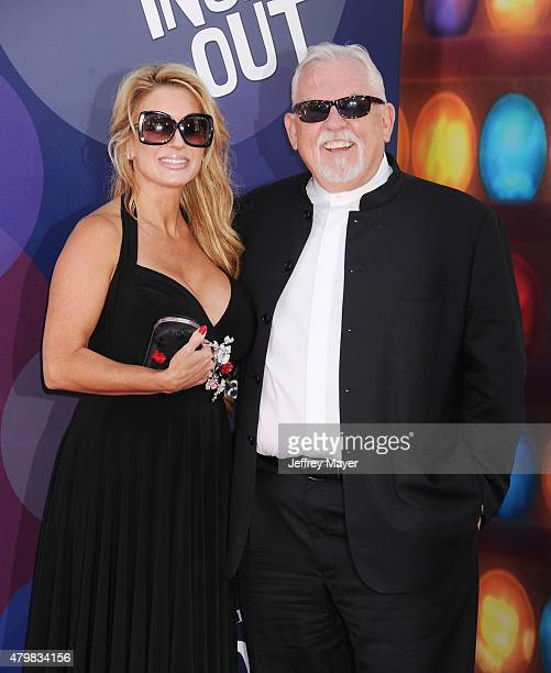 Actor John Ratzenberger and wife Julie Blichfeldt arrive at the Los Angeles premiere of Disney/Pixar's 'Inside Out' at the El Capitan Theatre on June...