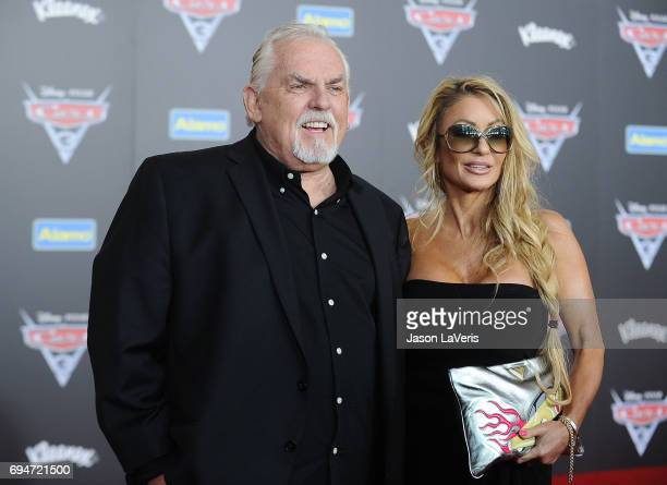 Actor John Ratzenberger and wife Julie Blichfeldt attend the premiere of Cars 3 at Anaheim Convention Center on June 10 2017 in Anaheim California