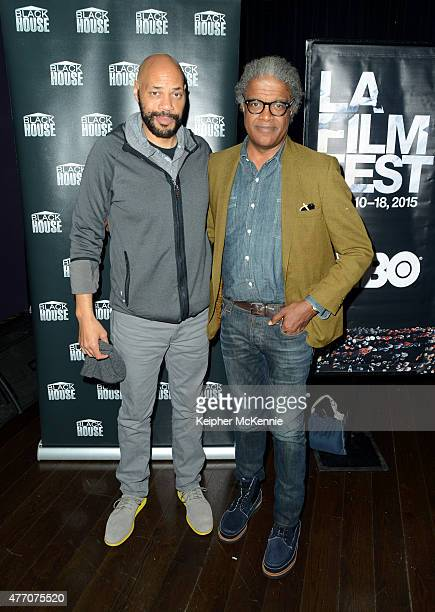Actor John Ridley and Film Independent curator Elvis Mitchell attend Diversity Speaks In Conversation during the 2015 Los Angeles Film Festival att...