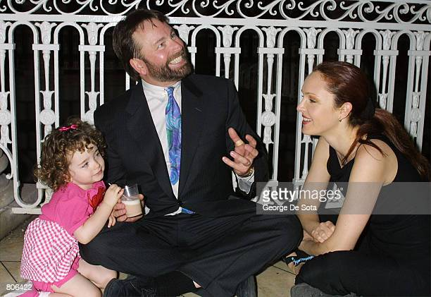 Actor John Ritter, his wife Amy and their daughter Stella attend the nominee announcements for the Daytime Emmy Awards May 1, 2001 at City Hall in...
