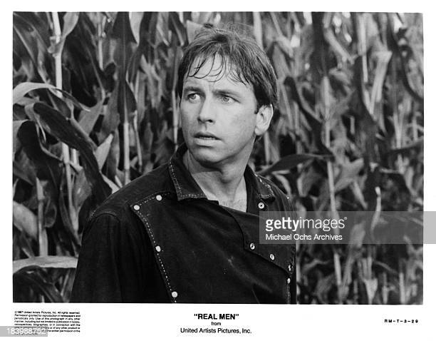 Actor John Ritter on the set of the United movie Real Men in 1987