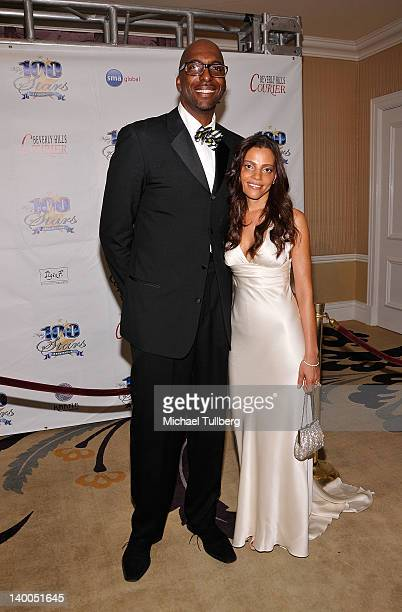 Actor John Salley and Natasha Duffy arrive at Norby Walters' 22nd Annual Night Of 100 Stars Viewing Gala at the Beverly Hills Hotel on February 26...