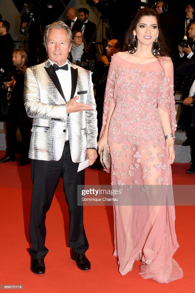 Actor John Savage and Blanca Blanco attend the screening of 'Dogman' during the 71st annual Cannes Film Festival at Palais des Festivals on May 16, 2018 in Cannes, France.