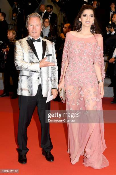 Actor John Savage and Blanca Blanco attend the screening of 'Dogman' during the 71st annual Cannes Film Festival at Palais des Festivals on May 16...