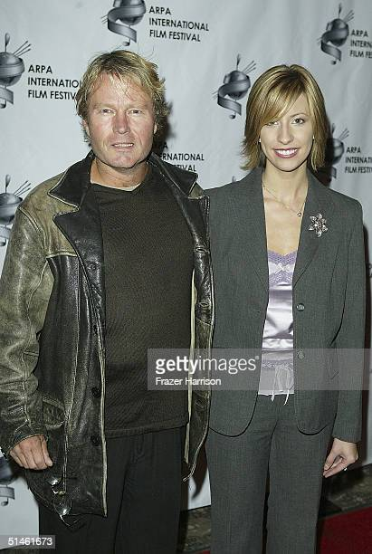 Actor John Savage and filmmaker Brenda Brkusic attends the 2004 ARPA International Film Festival Gala and Awards Benefit at the Sheraton Universal...