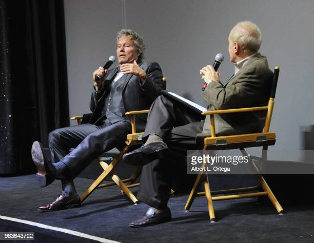 Actor John Savage answers questions from moderator Stephen Farber during the question and answer portion of the 40th Anniversary Screening Of The...