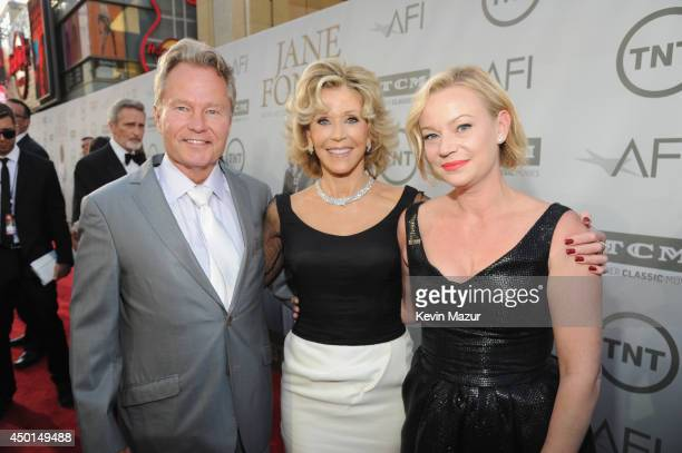 Actor John Savage honoree Jane Fonda and actress Samantha Mathis attend the 2014 AFI Life Achievement Award A Tribute to Jane Fonda at the Dolby...