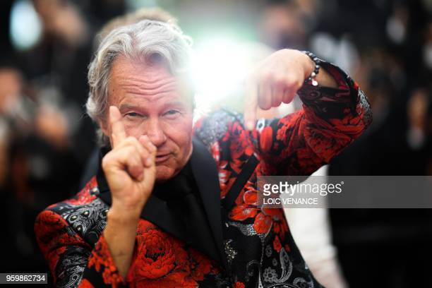 TOPSHOT US actor John Savage poses as he arrives on May 18 2018 for the screening of the film 'The Wild Pear Tree ' at the 71st edition of the Cannes...