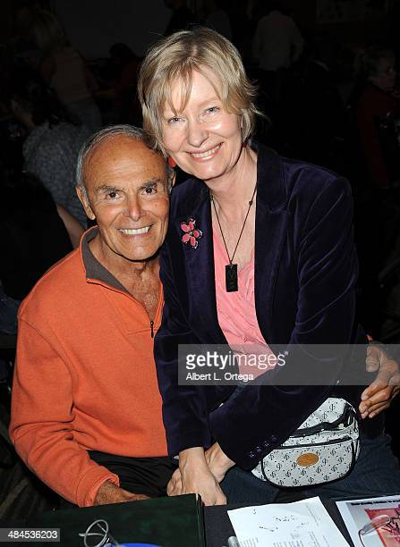 Actor John Saxon and wife Gloria Martel attend The Hollywood Show 2014 held at Westin LAX Hotel on April 12 2014 in Los Angeles California