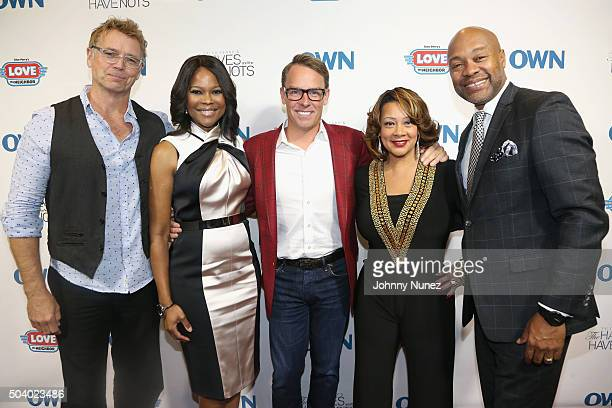 Actor John Schneider actress Angela Robinson Erik Logan president of OWN and Harpo Studios actress Kendra C Johnson and actor Palmer Williams attend...