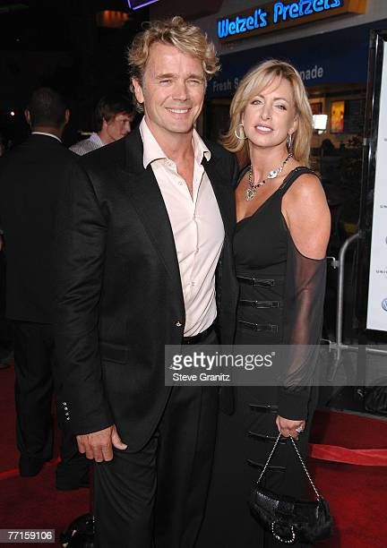 Actor John Schneider and wife Elly Castle arrives to the premiere of Elizabeth The Golden Age at Universal City Walk on October 1 2007 in Universal...