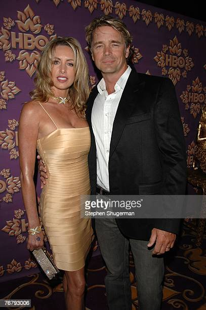 Actor John Schneider and wife Elly Castle attend the HBO Emmy after party at the Pacific Design Center on September 16 2007 in Los Angeles California