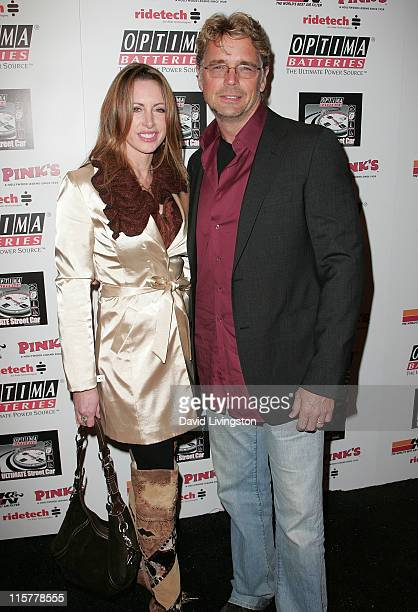 Actor John Schneider and wife Elly Castle attend the OPTIMA Ultimate Street Car Broadcast premiere at the Egyptian Theatre on January 26 2010 in...