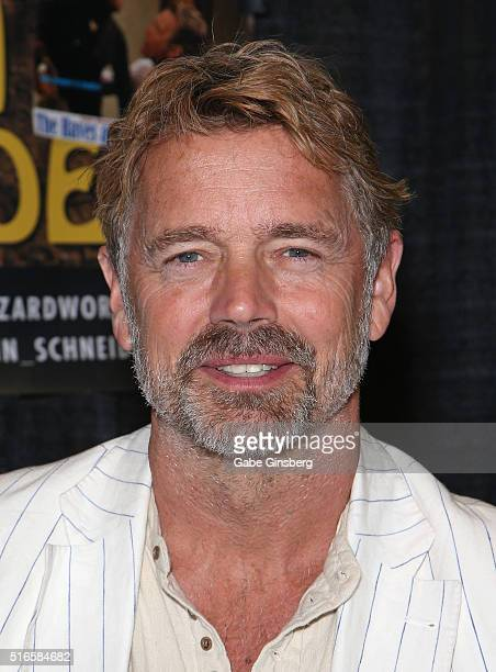 Actor John Schneider attends Wizard World Las Vegas at the Las Vegas Convention Center on March 19 2016 in Las Vegas Nevada