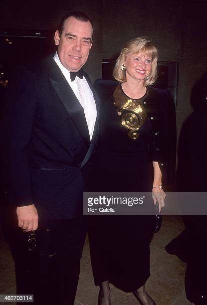 Actor John Schuck and wife Harrison Houle attend the National Council of Aging Honors Giancarlo Parretti on February 28, 1991 at the Beverly Hilton...