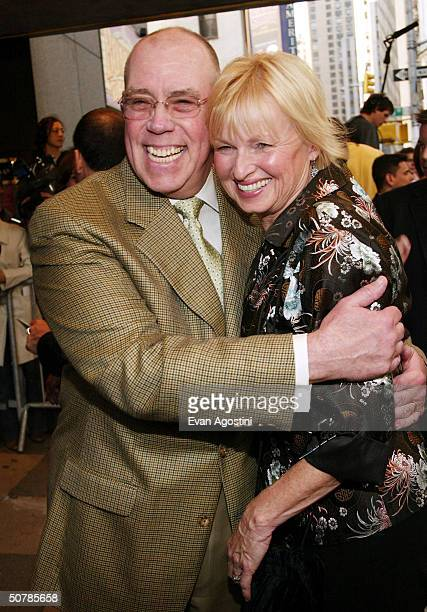 "Actor John Schuck and wife Susan attends the opening for ""Bombay Dreams"" at the Broadway Theatre April 29, 2004 in New York City."
