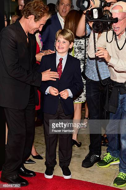 Actor John Shea and Laird Vonne Stone attend TNT's Agent X screening at The London West Hollywood on October 20 2015 in West Hollywood California...