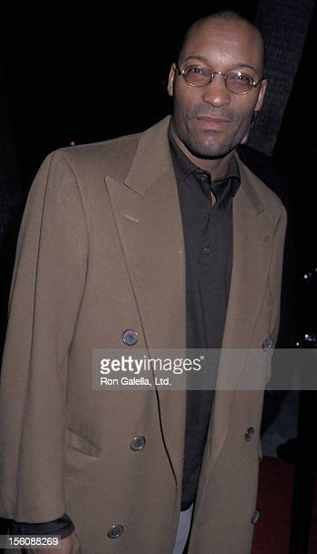 Actor John Singleton attending the Los Angeles premiere of 'Amistad' on December 8 1997 at the Academy Theater in Beverly Hills California