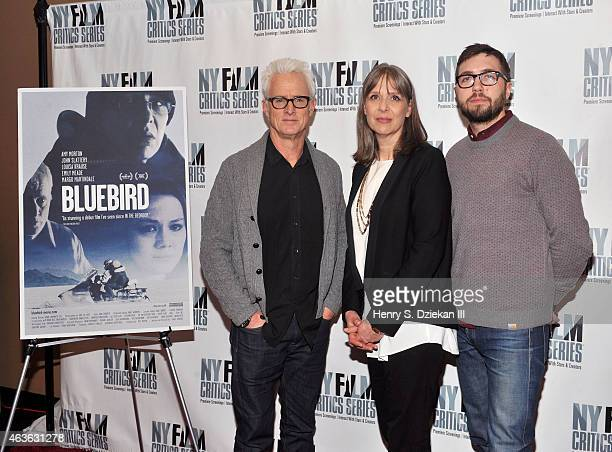 Actor John Slattery actress Amy Morton and director Lance Edmands attend the New York Film Critics Series Screening of Bluebird at AMC Empire on...
