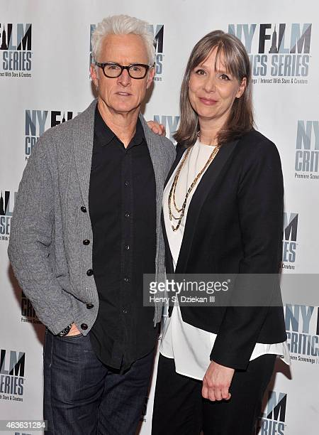 Actor John Slattery and actress Amy Morton attend the New York Film Critics Series Screening of 'Bluebird' at AMC Empire on February 16 2015 in New...