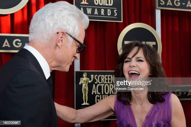 Actor John Slattery and actress Sally Field arrive at the 19th Annual Screen Actors Guild Awards held at The Shrine Auditorium on January 27 2013 in...