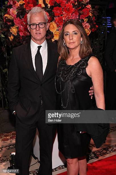Actor John Slattery and actress Talia Balsam attend the 2010 New Yorkers For Children Fall Gala at Cipriani 42nd Street on September 21 2010 in New...