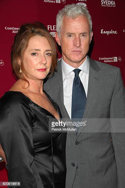 Actor John Slattery and his wife actress Talia Balsam attend ESQUIRE 75th Anniversary Party at Gotham Hall on September 10 2008 in New York City