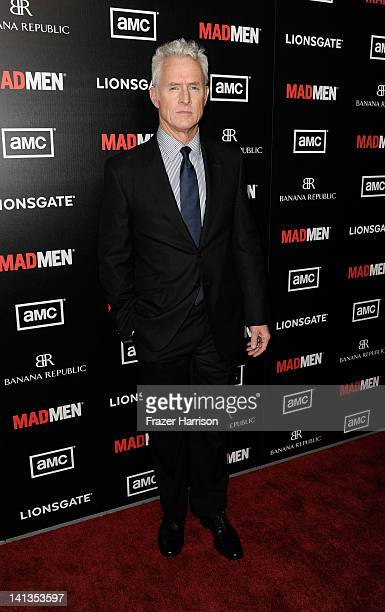 Actor John Slattery arrives at the Premiere of AMC's Mad Men Season 5 at ArcLight Cinemas on March 14 2012 in Hollywood California