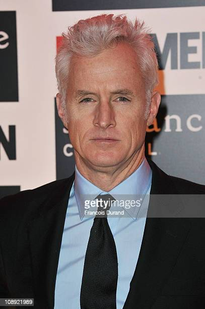 Actor John Slattery arrives at the Sundance Channel Mad Men Gala Event at Hotel Royal Monceau Raffle on February 8 2011 in Paris France