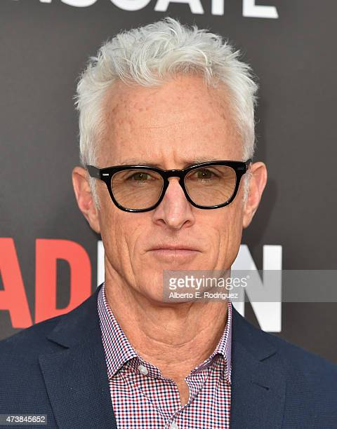 """Actor John Slattery attends AMC, Film Independent and Lionsgate Present """"Mad Men"""" Live Read at The Theatre at Ace Hotel Downtown LA on May 17, 2015..."""