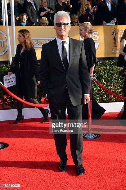 Actor John Slattery attends the 19th Annual Screen Actors Guild Awards at The Shrine Auditorium on January 27 2013 in Los Angeles California...
