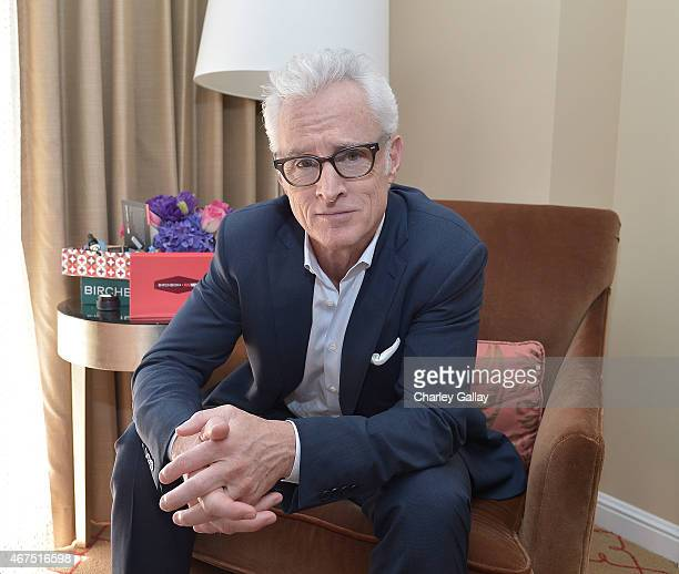 Actor John Slattery celebrates the launch Mad Meninspired Birchbox Collaboration at The Four Seasons Hotel on March 25 2015 in Beverly Hills...
