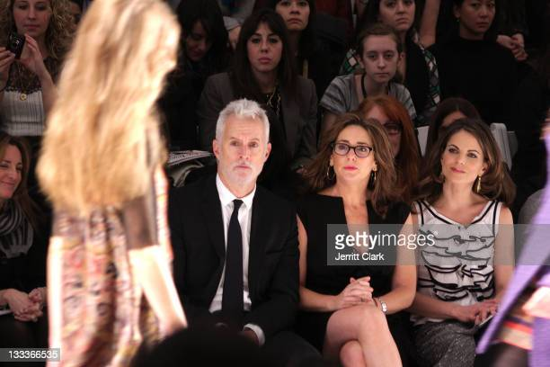 Actor John Slattery Talia Balsam and Natalie Morales attend Nanette Lepore Fall 2009 during MercedesBenz Fashion Week at The Promenade in Bryant Park...