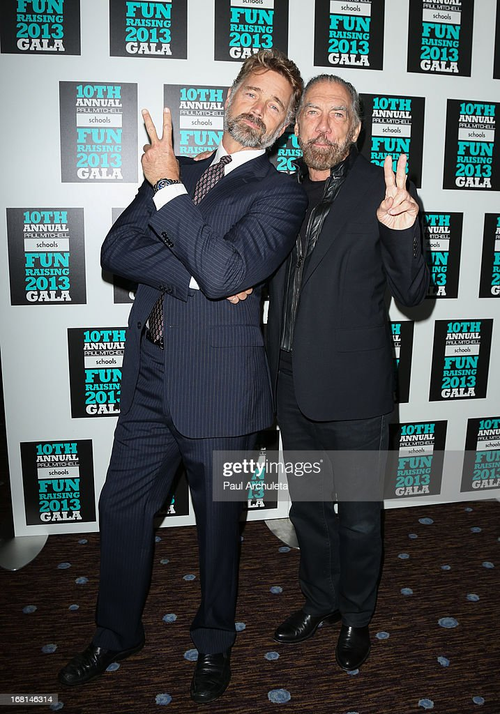 Actor John Snider (L) and John Paul DeJoria (R) attend the Paul Mitchell schools' 'FUNraising Campaign' gala at The Beverly Hilton Hotel on May 5, 2013 in Beverly Hills, California.