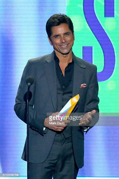Actor John Stamos accepts the Timeless Icon Award onstage during the 2016 TV Land Icon Awards at The Barker Hanger on April 10 2016 in Santa Monica...