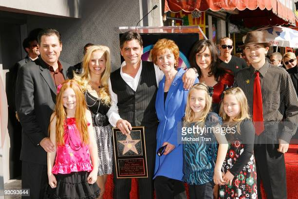 Actor John Stamos and his family attend the ceremony honoring Actor John Stamos with a star on the Hollywood Walk of Fame on November 16 2009 in...