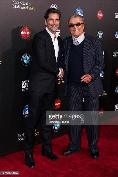 Actor John Stamos and producer Robert Evans attend the 2nd Annual Rebel With A Cause Gala hosted at the Paramount Studios on March 20 2014 in...