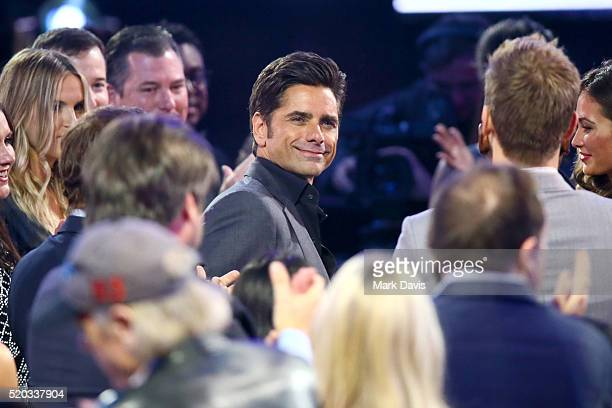 Actor John Stamos appears in the audience during the 2016 TV Land Icon Awards at The Barker Hanger on April 10 2016 in Santa Monica California