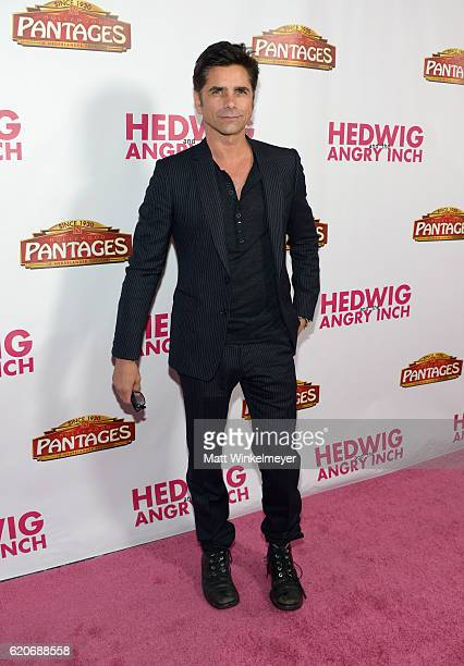 Actor John Stamos attends the opening night of 'Hedwig And The Angry Inch' at the Pantages Theatre on November 2 2016 in Hollywood California