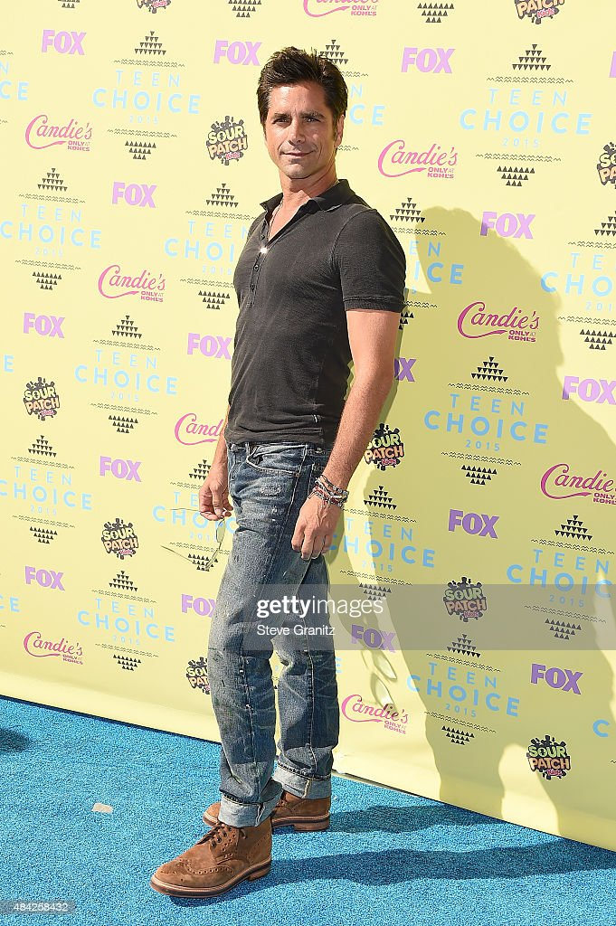 Actor John Stamos attends the Teen Choice Awards 2015 at the USC Galen Center on August 16, 2015 in Los Angeles, California.