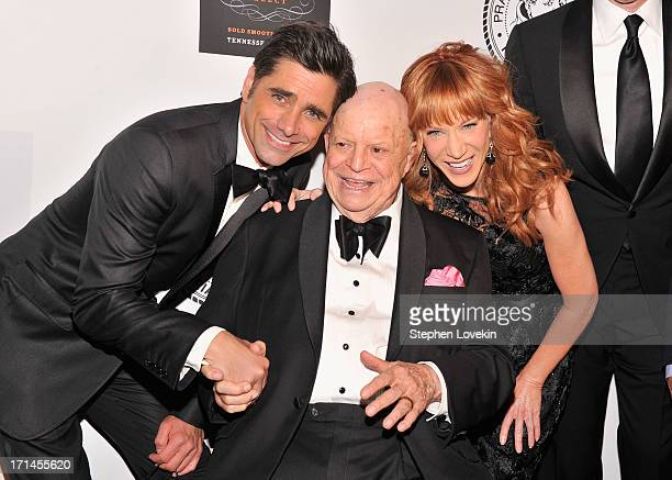 Actor John Stamos Don Rickles and Kathy Griffin attend The Friars Foundation Annual Applause Award Gala honoring Don Rickles at The Waldorf=Astoria...