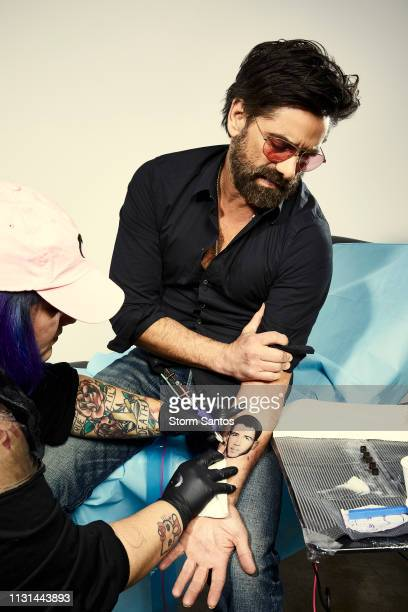 Actor John Stamos is photographed with Nick Jonas tattoo on March 15 2019 in Los Angeles California