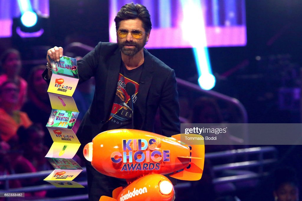 Actor John Stamos onstage at the Nickelodeon's 2017 Kids' Choice Awards at USC Galen Center on March 11, 2017 in Los Angeles, California.