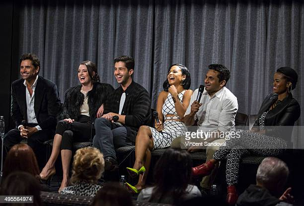 Actor John Stamos Paget Brewster Josh Peck Christina Milian Ravi Patel and Kelly Jenrette attend SAG Foundation's Conversations series screening of...