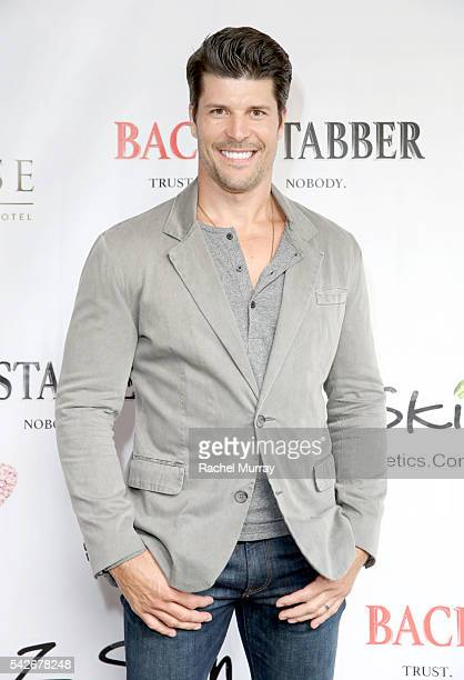 Actor John T Prather attends the red carpet premiere for the new Amazon series 'Back Stabber' at the Ambrose Boutique Hotel on June 23 2016 in Santa...