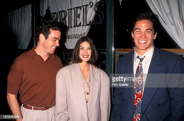 Actor John Tenney Actress Teri Hatcher and Actor Dean Cain attending the ABC Affiliates Party on May 10 1994 at the Westbury Hotel in New York City