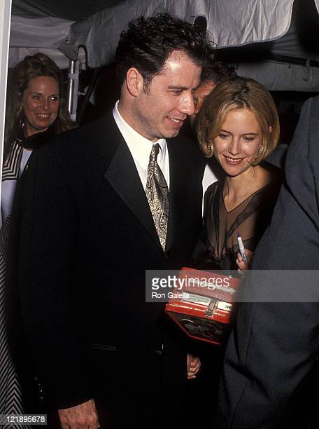 Actor John Travolta and actress Kelly Preston attend the 32nd Annual New York Film Festival Opening Night 'Pulp Fiction' Screening After Party on...