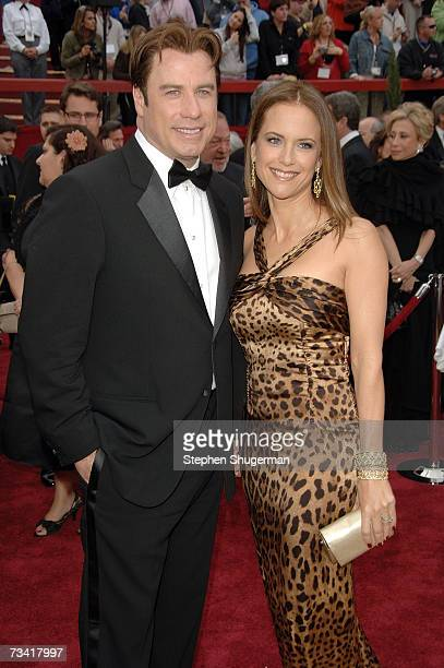 Actor John Travolta and actress Kelly Preston attend the 79th Annual Academy Awards held at the Kodak Theatre on February 25 2007 in Hollywood...