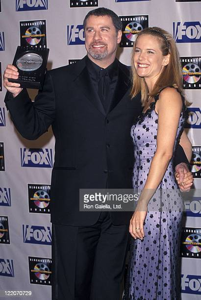 Actor John Travolta and actress Kelly Preston attend the Fifth Annual Blockbuster Entertainment Awards on May 25 1999 at Shrine Auditorium in Los...